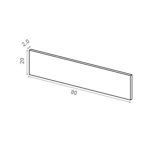 Tiroir 80X20cm | design lisse | noyer naturel