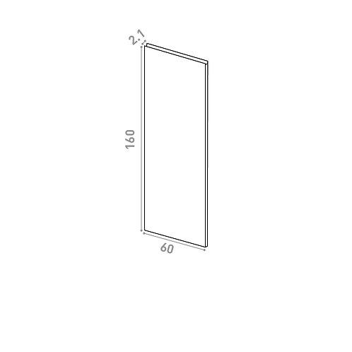 Porte 60X160cm | design U shape | chêne naturel