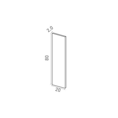 Porte 20X80cm | design lisse | noyer naturel