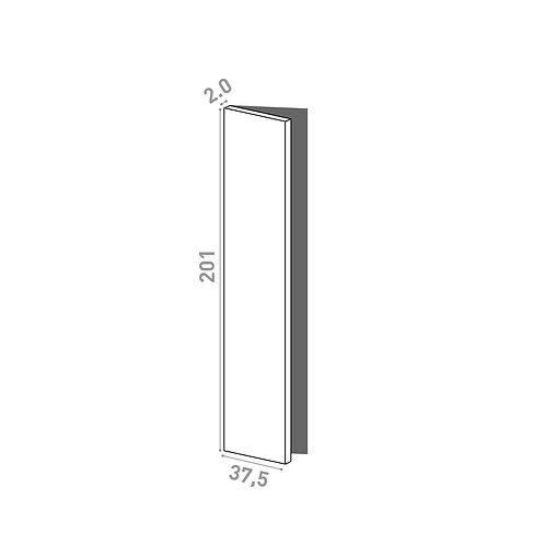 Porte 37.5x201cm - charnières à gauche | design lisse | chêne naturel