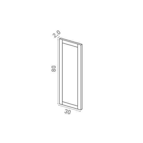 Porte 30X80cm | design cadre | chêne peint