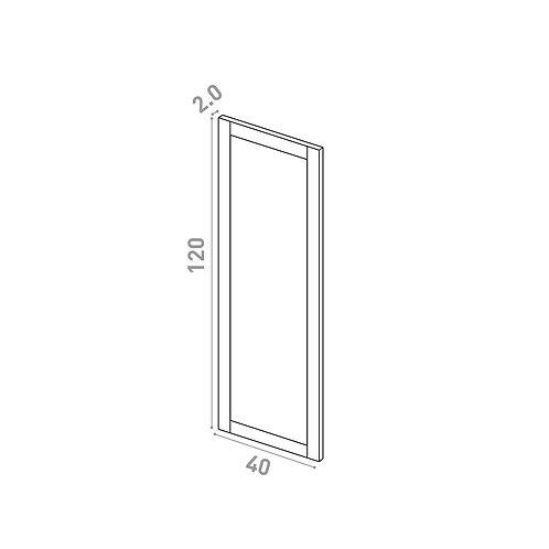 Porte 40X120cm | design cadre | chêne peint