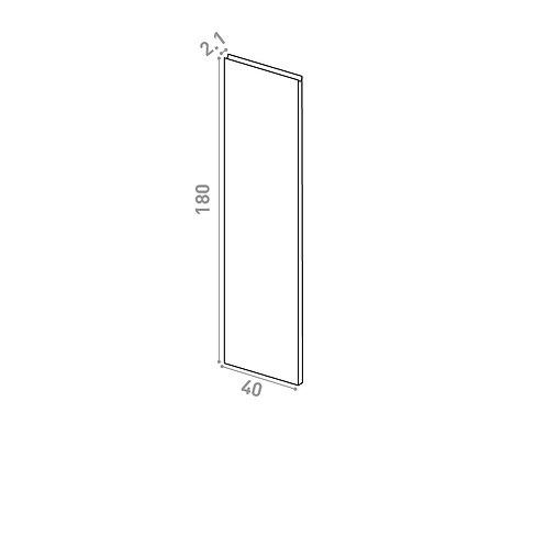 Porte 40x180cm | design U shape | chêne peint