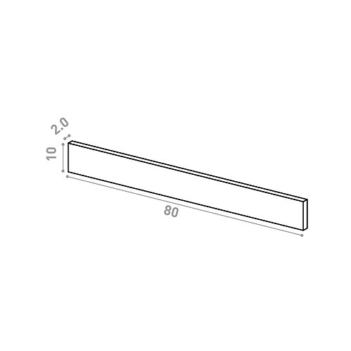 Tiroir 80X10cm | design lisse | noyer naturel