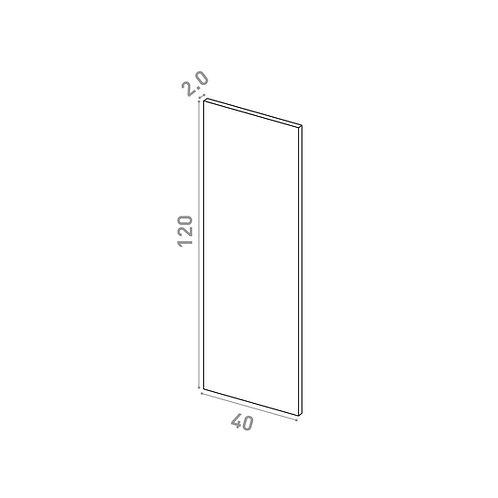 Porte 40X120cm | design lisse | noyer naturel