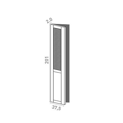 Porte 37.5x201cm - charnières à gauche | design cannage | chêne peint