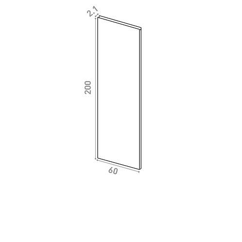 Porte 60X200cm | design U shape | chêne peint