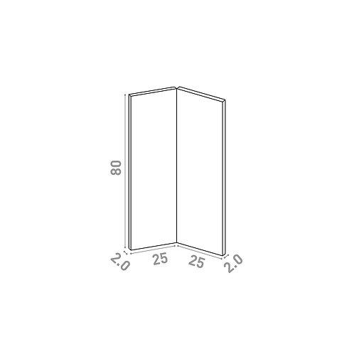 Porte d'angle 25x80cm | design lisse | laque mate