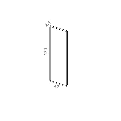 Porte 40X120cm | design U shape | laque mate