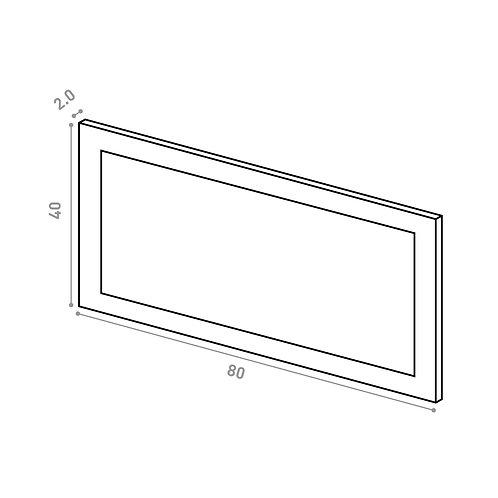 Tiroir ou porte horizontale 80X40cm | design cadre | laque mate