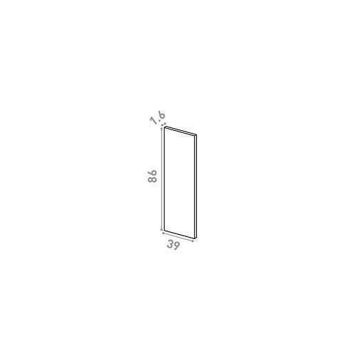 Panneau de finition 39X86cm | design lisse | chêne peint