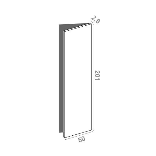 Porte 50x201cm - charnières à droite  | design lisse | chêne naturel