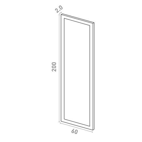 Porte 60X200cm | design cadre | laque mate