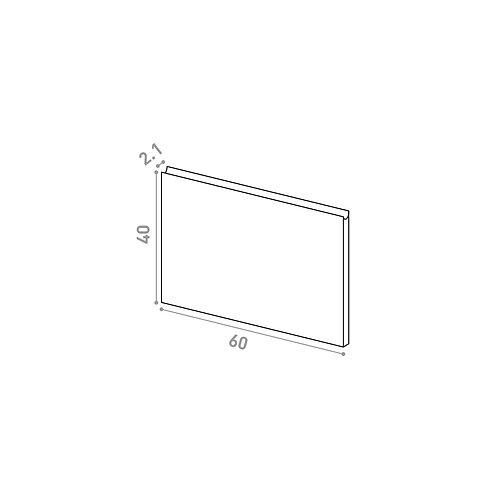 Tiroir ou porte horizontale 60X40cm | design U shape | noyer naturel