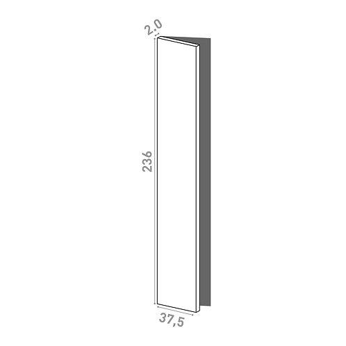 Porte 37.5x236cm - charnières à gauche | design lisse | laque mate