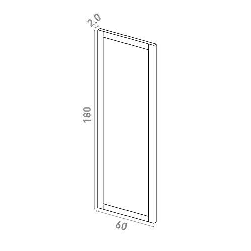 Porte 60X180cm | design cadre | chêne peint
