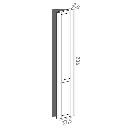 Porte 37.5x236cm - charnières à droite | design cadre | chêne peint