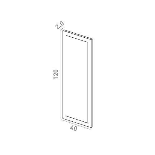 Porte 40X120cm | design cadre | laque mate