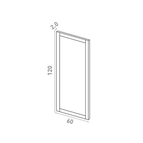Porte 60X120cm | design cadre | chêne peint