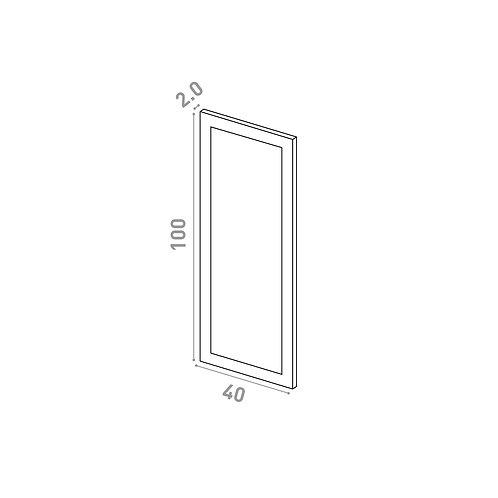 Porte 40X100cm | design cadre | laque mate