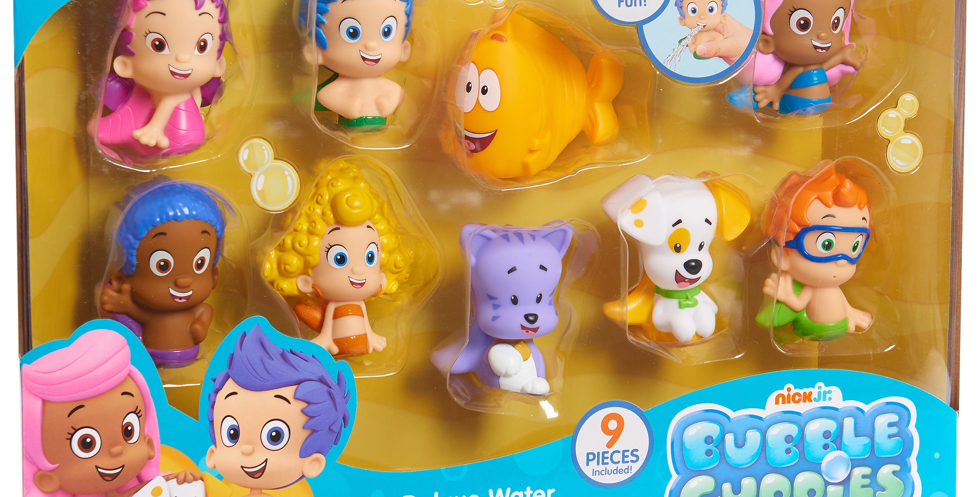 . Bubble Guppies Bath Squirters Deluxe Set   9 Bath Squirters Included