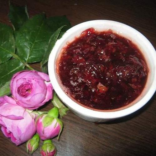 Dulceață de căpșuni cu petale de trandafir 200 gr