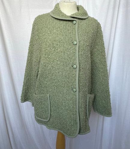 St Michaels Pistachio Boucle Jacket Size 12-14