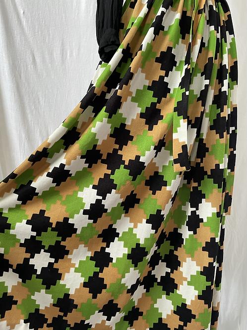Green, Caramel & Black 70s Maxi Size 10