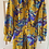 Thumbnail: 1970s Dragon Dagger Collar Maxi Dress Size 8
