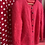 Thumbnail: Raspberry Mohair Lined Cardigan size 8-12