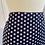 Thumbnail: 1970s Polka Navy Maxi Skirt Size 12