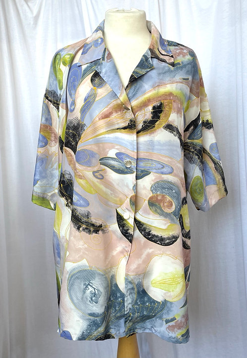 80s Pastel Abstract Shirt Size 16