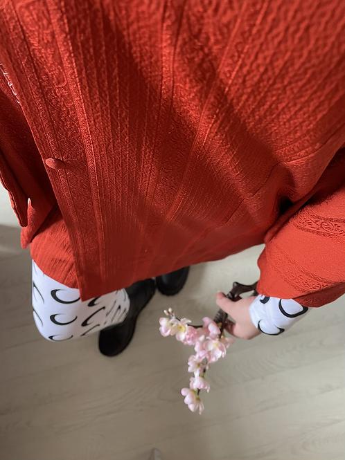 Vintage Tomato Red Kimono Size 8-16