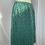 Thumbnail: Lurex Metallic Green Skirt Size 10-12