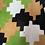 Thumbnail: Green, Caramel & Black 70s Maxi Size 10