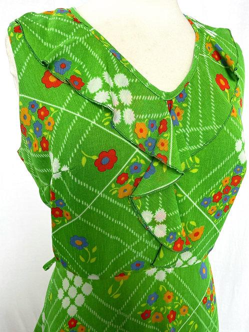 Green Floral Dress Size 10/12