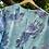Thumbnail: Blue Pleat Floral Dress Size 10/12