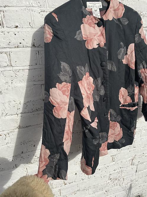 1980s Rose Blazer Size 8-12