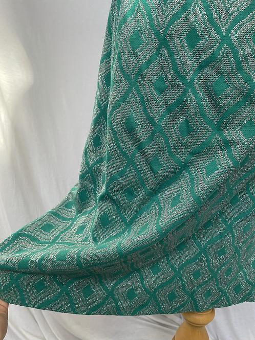 Lurex Metallic Green Skirt Size 10-12