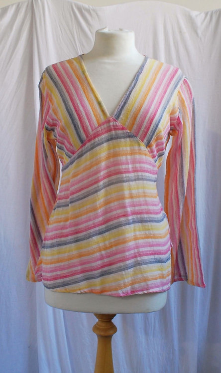 Candy Stripe 70s Top Size 8