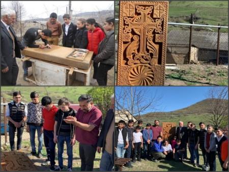 Խաչքարի պատրաստում և տեղադրում «Արար. ազգային մշակույթի պահպանումը, տարածումը, զարգացումն ու հանրահռ