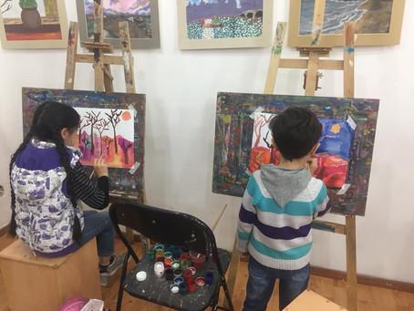 Ребята из Арцаха принесли в Художественный институт «Нарекаци» цвета своей победы и мира
