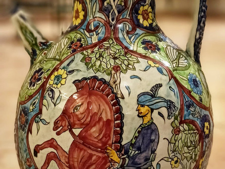 A timeless handmade & hand-painted vase by the late Marie Balian