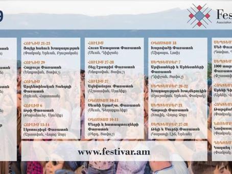 2019 calendar for all the festivals happening in Armenia