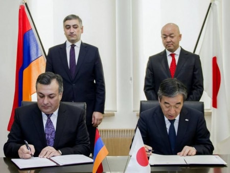 The governments of Armenia and Japan signed an agreement