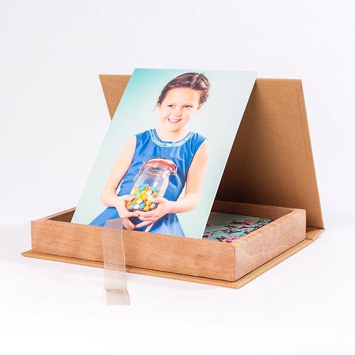 Fotobox bekleed met linnen of leer