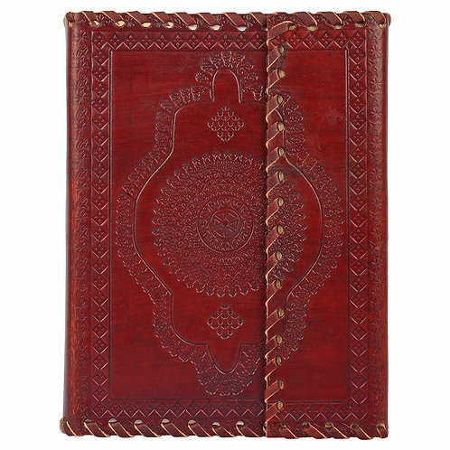 Leather Embossed 3 Fold Journal