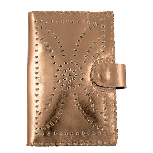 Metallic Leather Passport  Wallet