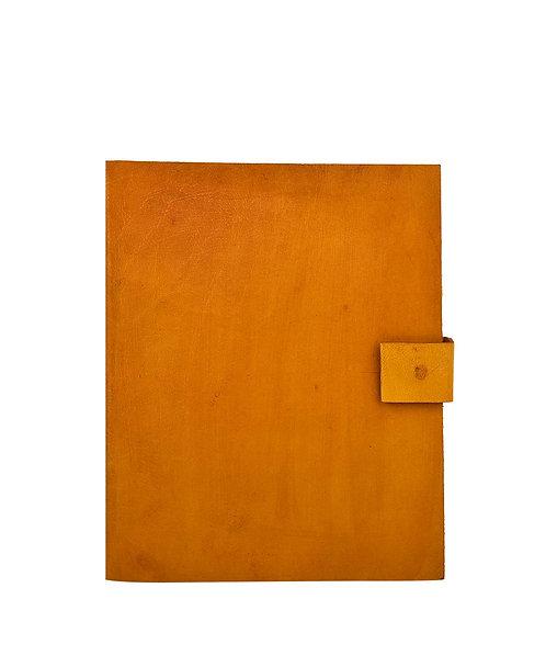 Plain Leather Button Journal