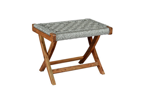 Folding Table Weaved in Recycled Silver Plastic